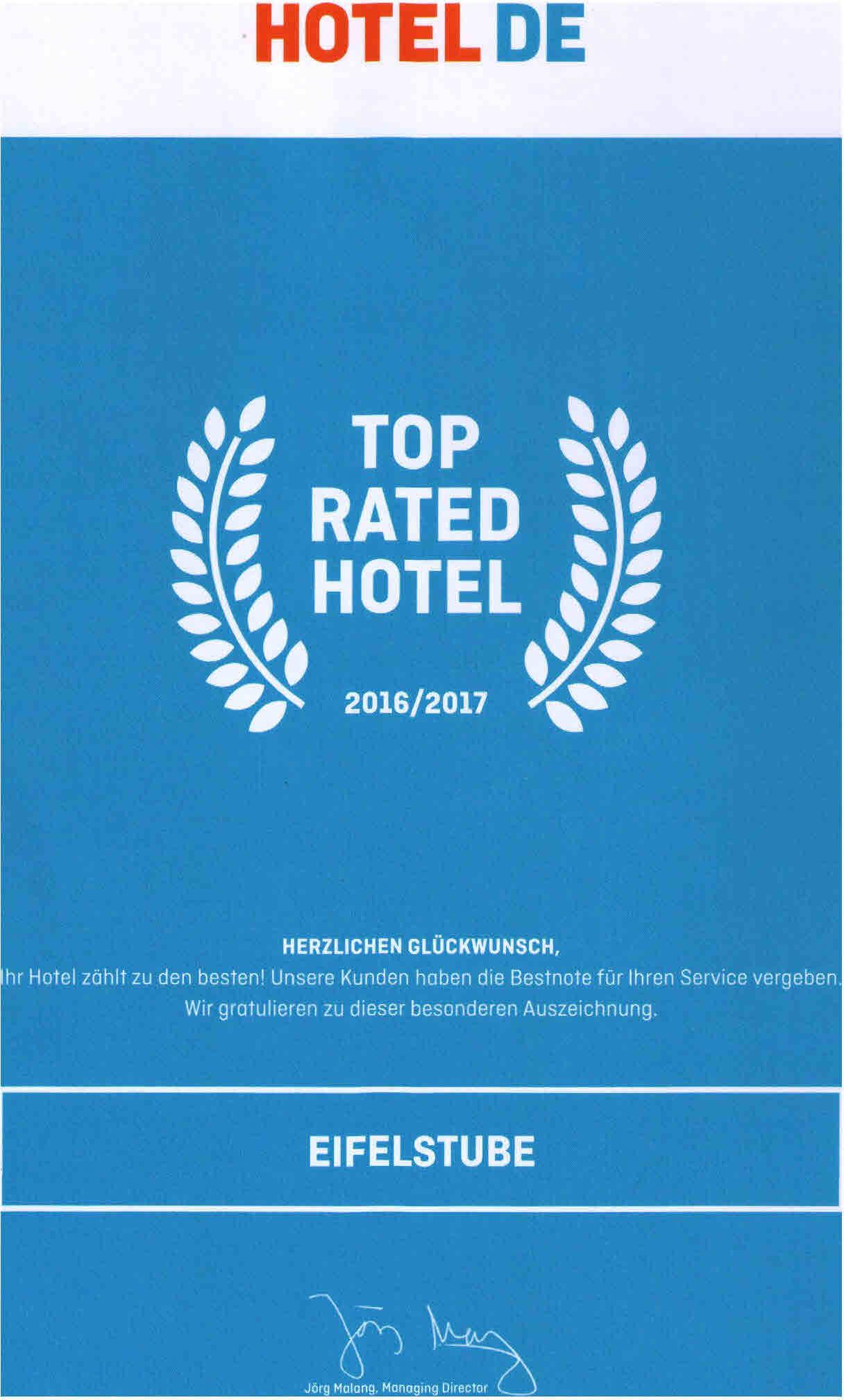 Eifelstube Nürburgring Hotel.de HRS Bewertungen Reviews Auszeichnungen Awards  Restaurant