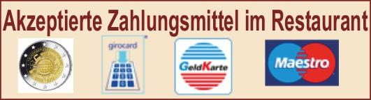 Eifelstube Rodder Restaurant Adenau Nürburgring wir akzeptieren zur Zahlung Bargeld Girocard Maestro Bankkarte